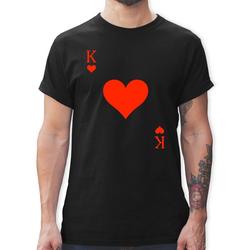 Shirtracer T-Shirt King Kartenspiel Karneval Kostüm - Karneval & Fasching - Herren Premium T-Shirt - T-Shirts faschingskostüme männer M