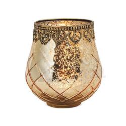 matches21 HOME & HOBBY Kerzenständer Teelichtglas orientalisch Orient Windlicht antik 14 cm