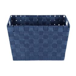 WENKO Adria Aufbewahrungskorb, dunkelblau, Aufbewahrungsbox für das Bad und den gesamten Haushalt, Maße (B x H x T): 35 x 22 x 25,5 cm, M