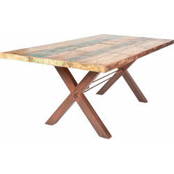 SIT Esstisch Tops, aus recyceltem Altholz braun 240 cm x 78 cm x 100 cm