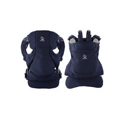 Stokke Babytrage Stokke® MyCarrier™ Bauch- und Rückentrage – Mitwachsende Babytrage für Neugeborene – 3 in 1 Tragesystem aus Bio-Baumwolle – Ultraleicht & ergonomisch blau