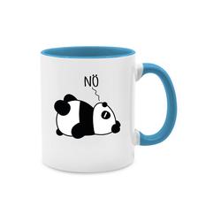 Shirtracer Tasse Nö - Panda - schwarz - Tasse zweifarbig