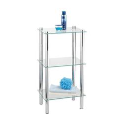 WENKO Ablageregal Regal Yago viereckig mit 3 Glasablagen