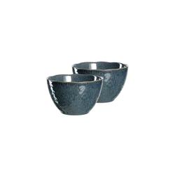 LEONARDO Schale MATERA Keramikschale 15,3 cm blau 2er Set, Keramik, (2-tlg)