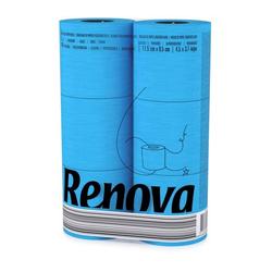 Blaues Toilettenpapier 6er Pack