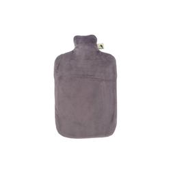 Hugo Frosch Wärmflasche, Öko-Wärmflasche 2,0 L mit Nickibezug luna grau
