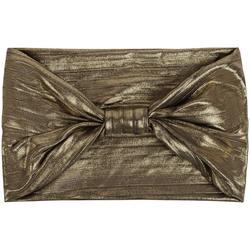 styleBREAKER Haarband Metallic Streifen Haarband mit Schleife, 1-tlg., Metallic Streifen Haarband mit Schleife