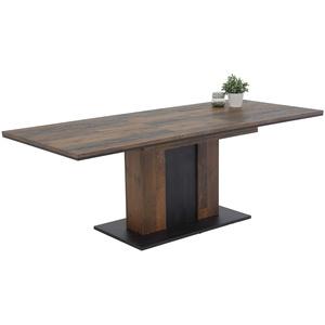 Apollo Atlanta Säulentisch, Holzwerkstoff, Oldwood, 160-210 x 90 x 75 cm