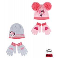 Disney Minnie Set Mütze und Handschuhe, Gr. 52, grau
