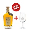 Slyrs Whisky Destillerie SLYRS Whisky Set: Bavarian Single Malt Whisky + Slyrs-Glas / 43 % vol. / 0,7 Liter-Flasche im Karton