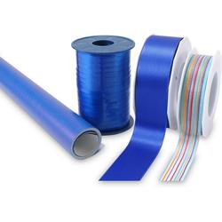 PRÄSENT Geschenkpapier Streifen, Geschenkpapier-Set, 4-teilig blau