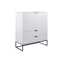 ebuy24 Sideboard Koch Sideboard mit 2 Türen und 2 Schubladen weiß.