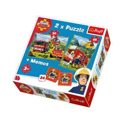 Trefl Puzzle 2x Puzzle 30/48 Teile + Memos - Feuerwehrmann Sam, Puzzleteile