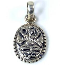 Guru-Shop Kettenanhänger Silber Anhänger Ganesha Talisman - 8