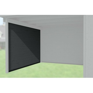 Weka Zubehör für Weka Designhaus 172/126 Seitenwand Tiefe 235 cm anthrazit 21 mm