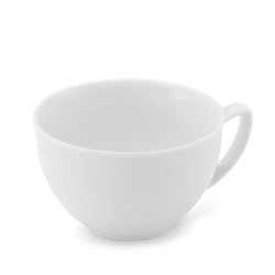 Friesland Porzellan Tasse Friesland Teetasse 0,19l Venice Weiß Porzellan (1-tlg), Made in Germany