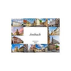 Ansbach Impressionen (Tischkalender 2021 DIN A5 quer)