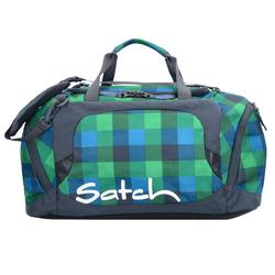 Satch pack 181 Sporttasche 50 cm hip flip multikaro blau grün
