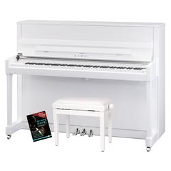 Kawai K-200 WH/P-SL Klavier Set Weiß