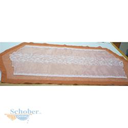 Tischläufer Läufer Tischband Tischdecke fertig genäht creme rost, 53 x 104 cm