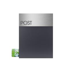 MOCAVI Briefkasten MOCAVI Box 500 Hochwertiger Design-Briefkasten anthrazit (RAL 7016) modernes Edelstahl-Motiv-Schild Post V4A