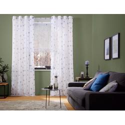 Gardine Stern, my home, Ösen (1 Stück) weiß 140 cm x 175 cm