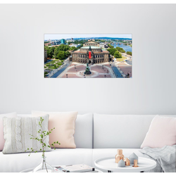 Posterlounge Wandbild, Semperoper, Dresden 80 cm x 40 cm
