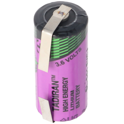 Tadiran SL-561 Lithium Batterie 3,6V 2/3 AA mit Lötfahne U-Form SL-561 EHCJ