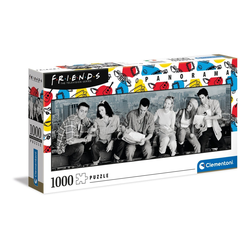 Clementoni® Puzzle 39588 Friends 1000 Teile Panorama Puzzle, 1000 Puzzleteile, Panorama Format