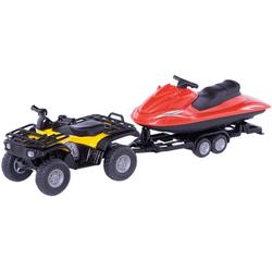 Siku Spielzeug-Auto SIKU 2314 Quad mit Jet-Ski 1:55