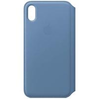 Apple iPhone XS Max Leder Folio kornblume