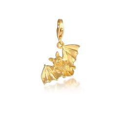 Nenalina Charm-Einhänger Anhänger Fledermaus Halloween 925 Silber, Fledermaus