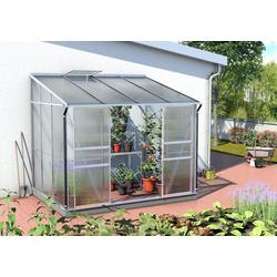 Vitavia Gewächshaus Osiris/Ida 5200 inkl. 1 Dachfenster - 5,2 m² ESG 3 mm mit HKP-Dach 6 mm Alu-blank eloxiert