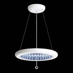 Swarovski Infinite Aura LED Kristall-Hängelampe in Weiß mit klaren Kristallen