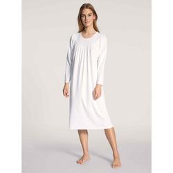 CALIDA Nachthemd Nachthemd Langarm (1-tlg) weiß XS = 36/38