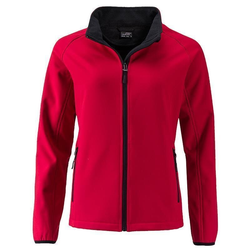Damen Softshelljacke | James & Nicholson red M