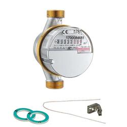 Wasserzähler warm 2,5 m³ mit Anschlussgewinde 3/4'' - 110 mm - geeicht und beglaubigt