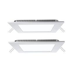 2er Set 18 Watt LED Panels in weiß zur Deckenmontage VT-1807
