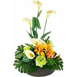 Kunstpflanze Arrangement Calla/Blüten 56/33 cm Calla/Blüten, I.GE.A., Höhe 56 cm