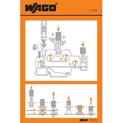 WAGO 210-292 Handhabungsaufkleber 100St.