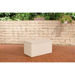 CLP Auflagenbox Auflagenbox 5mm, Gartentruhe für Kissen und Auflagen weiß