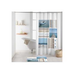 dynamic24 Duschvorhang Breite 180 cm, Badewannenvorhang 180x200 maritim Wannenvorhang Bad Dusche Vorhang
