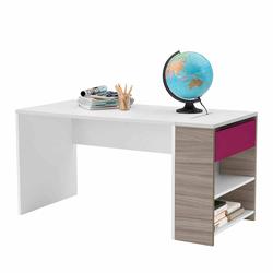 Jugendzimmer PC Tisch in Weiß Pink 145 cm