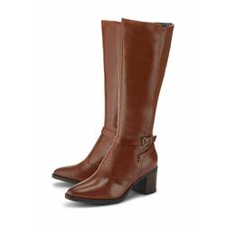 Klassische Stiefel Leder-Stiefel COX mittelbraun
