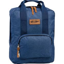 BestWay Bags Notebook-Rucksack ORI101M Bestway blauer unisex Businessrucksack (Businessrucksack), Damen, Herren Businessrucksack, Freizeitrucksack Polyester, blau