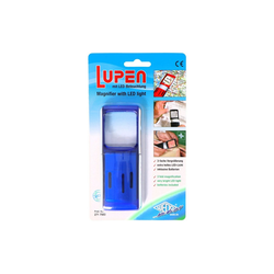 WEDO LED Taschenlampe Lupe mit LED-Beleuchtung und 3fach Vergrösserung F