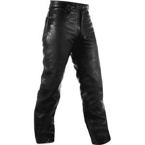 A-Pro Biker Jeans Hosen Cruiser Leder Motorrad Stil Hose Lederjeans Schwarz 36