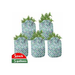 Abakuhaus Pflanzkübel hochleistungsfähig Stofftöpfe mit Griffen für Pflanzen, Teal Bunte Wasser-Tröpfchen 28 cm x 28 cm