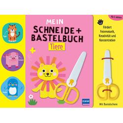 Mein Schneide- und Bastelbuch Tiere als Buch von