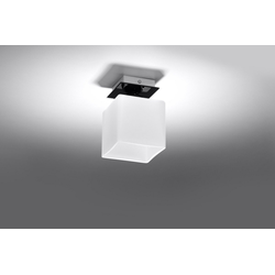 Licht-Erlebnisse Deckenleuchte SQUARE Deckenleuchte Schwarz Weiß rechteckig Küchenleuchte Innen Lampe